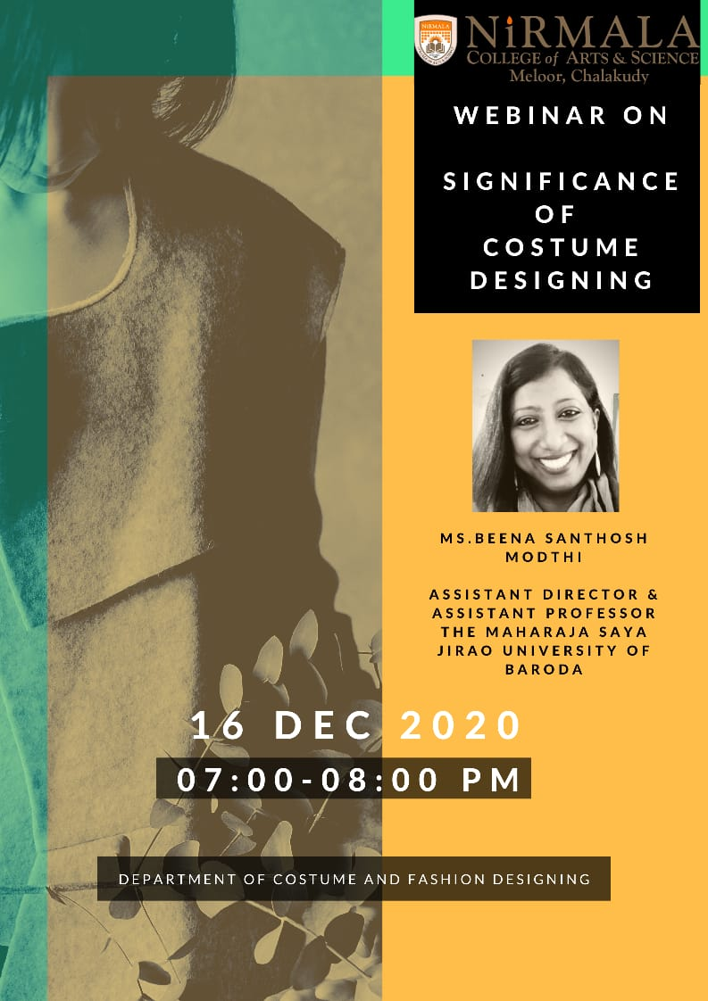 webinar on the topic Significance of costume designing.