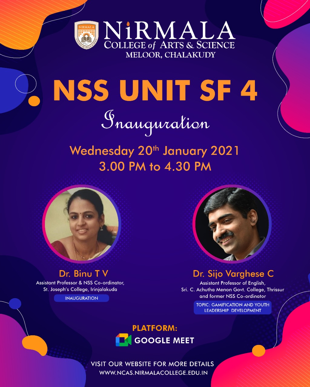 NSS UNIT SF 4 Inauguration